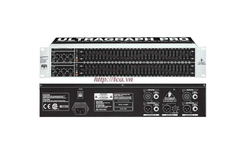 how to use behringer ultragraph pro